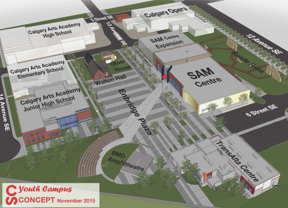Stampede Park's Youth Campus is currently under construction.