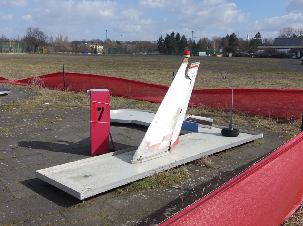 How about an abandoned airport that has been turned into a huge park not by design but by locals taking ownership? This is a part of the miniature golf course that has been created out of found objects including old plane parts.