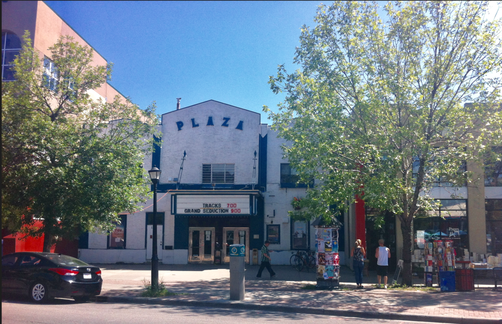 Plaza art house cinema with Pages books store next door.