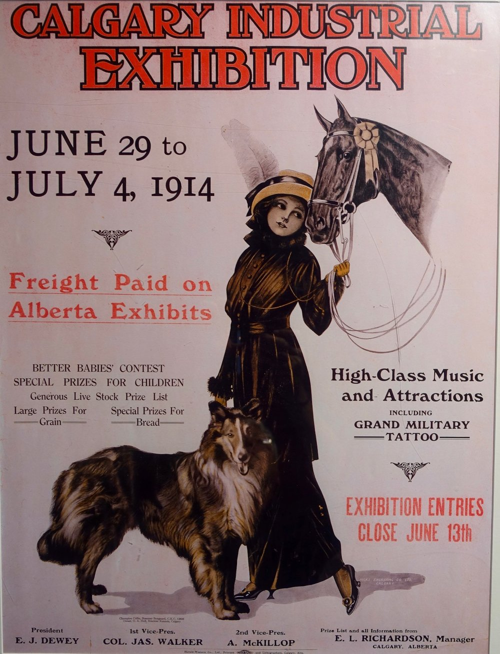 There is a rare history lesson in the parade of posters (100+) along the elevated concourse (+15) from the LRT Station to Saddledome. It is fun to look at how the Stampede has evolved over the years and the famous people who have performed.  Link:      Flaneuring Calgary's Stampede Poster Parade
