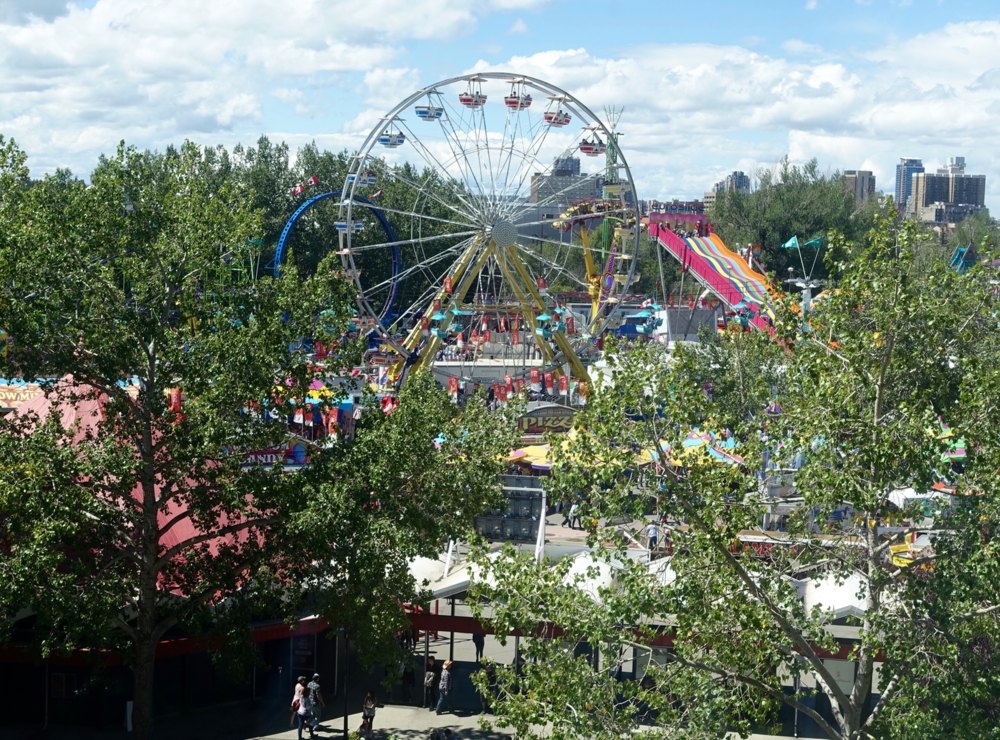 Yes Stampede Park is indeed a park at Stampede time.