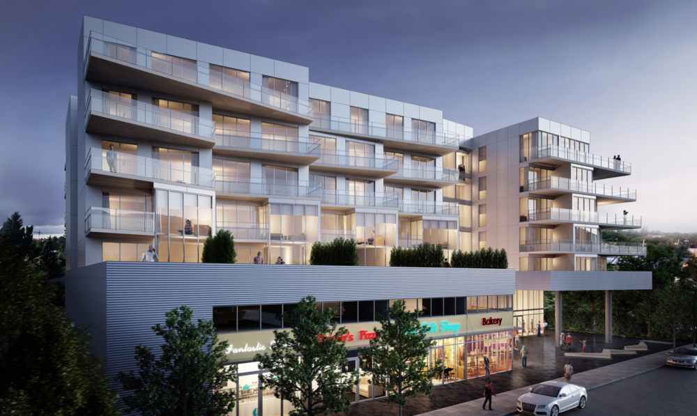 AVLI condo in Inglewood will enhance Atlantic Avenue aka 9th Ave SE as Inglewood's historic Main Street with its contemporary architecture and retail at street level.  Photo credit: Sturgess Architecture