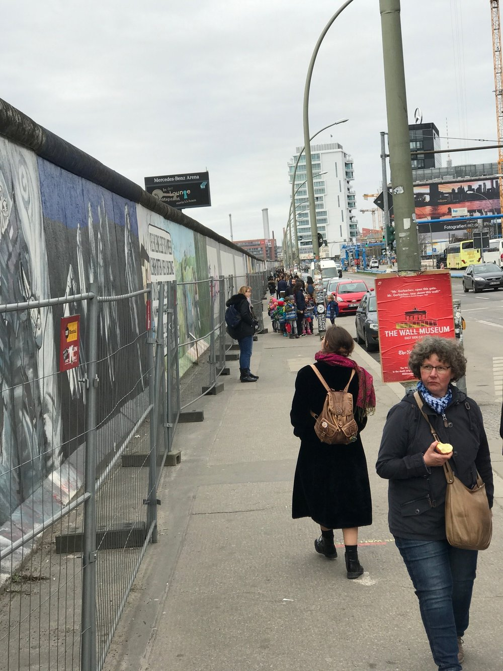 The East Side Gallery gong show of people, clutter, construction and fences is not a great experience - IMHO!.