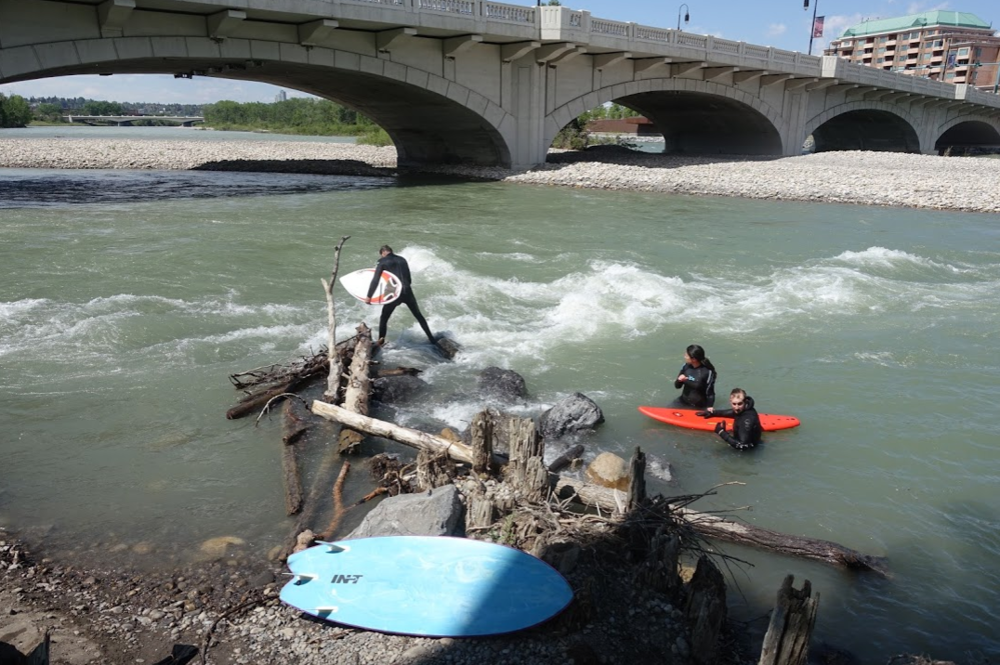 If Amazon chose West Village for HQ2 their employees could body surf in the Bow River at lunch and after work.