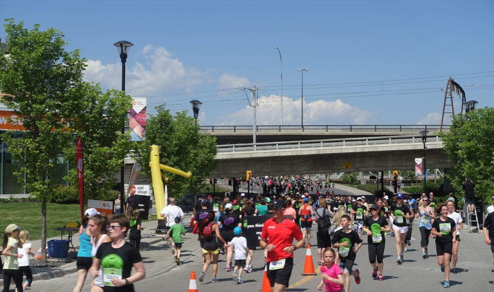There is a walk or run in Calgary almost every weekend for charity.
