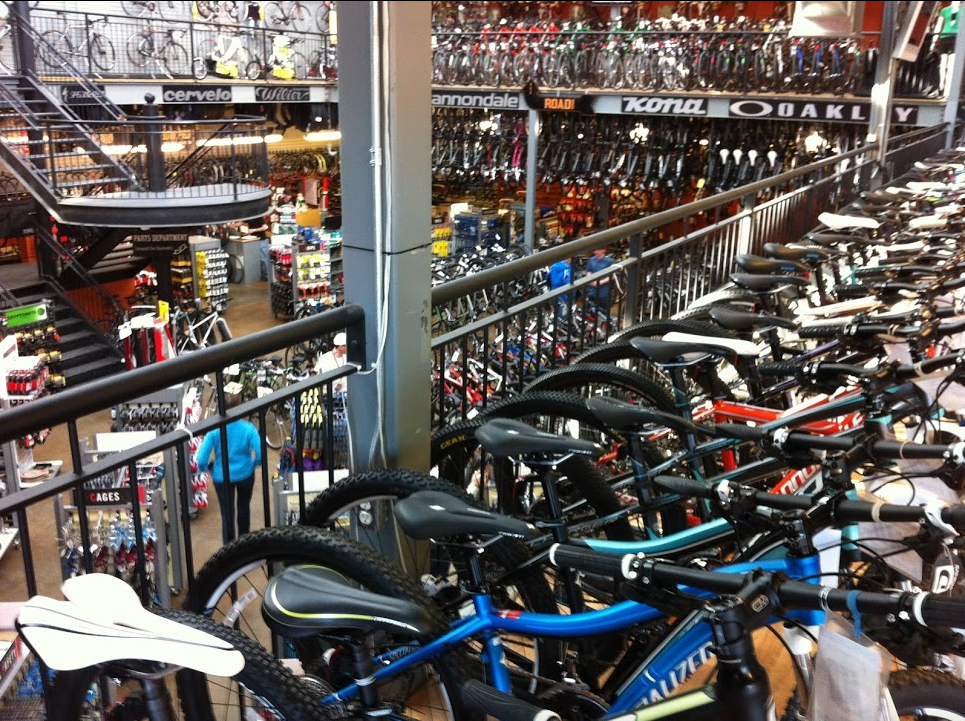 Bow Cycle is one of the largest bike shops in the world. It sponsors the annual Tour de Bowness race.