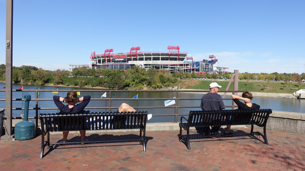 Nashville's Nissan Stadium opened in 1999.  It provides a nice vista but it has not been a catalyst for development on the surrounding land.