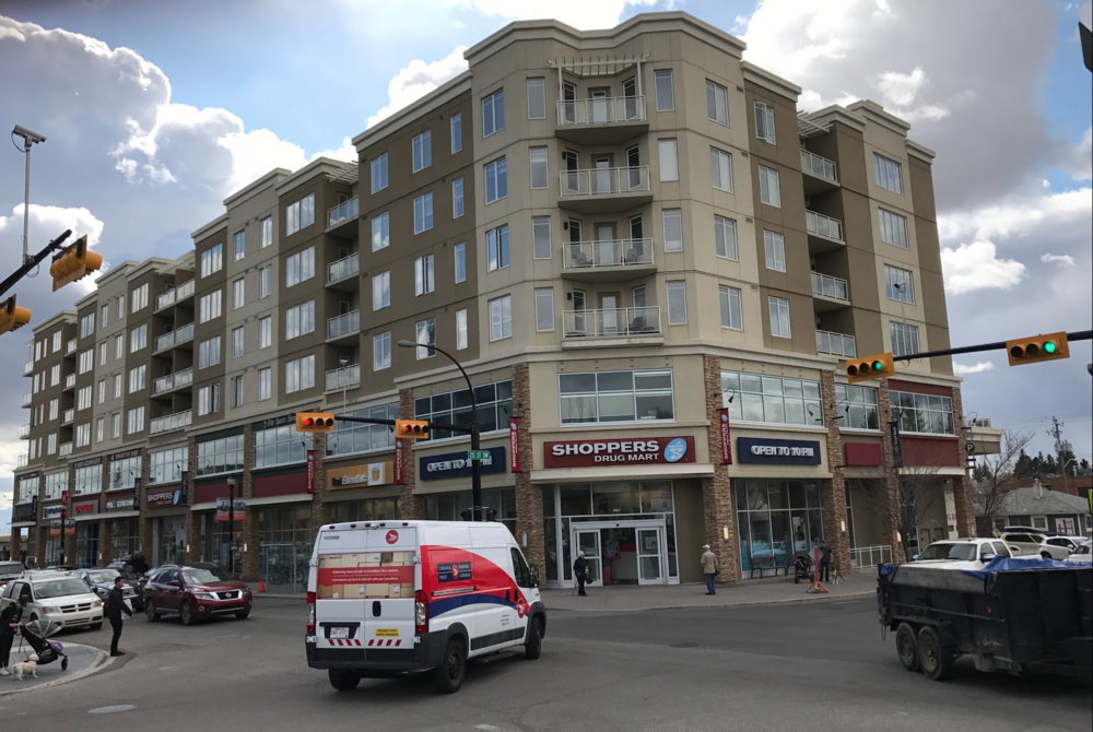 All Calgary urban villages have grocery, drug stores, banks and other everyday services  essential to urban living like Marda Loop.
