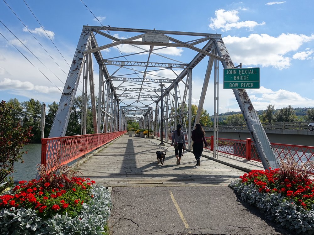 Calgary's oldest pedestrian bridge.
