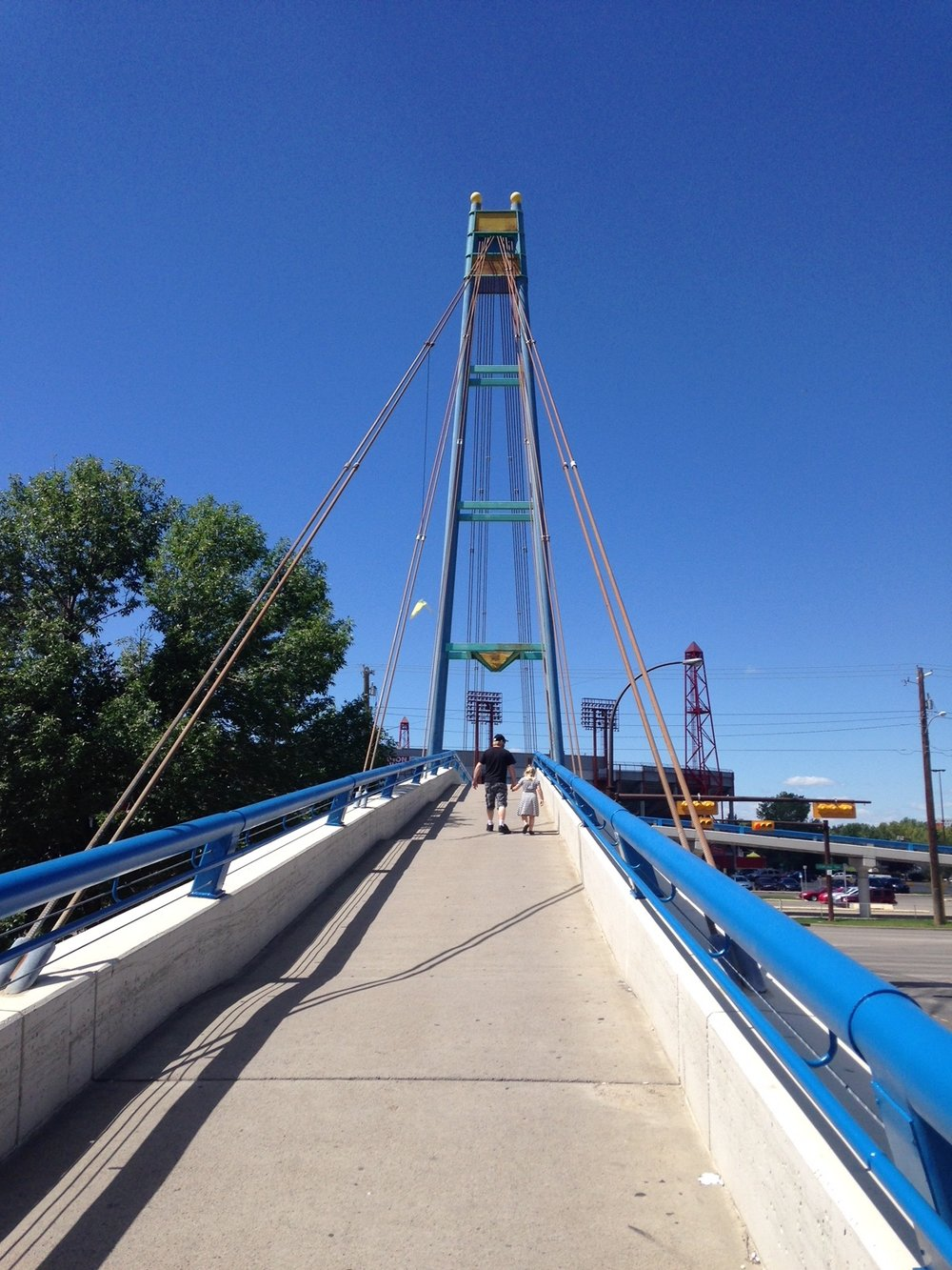 Bridge over Crowchild Trail to McMahon Stadium