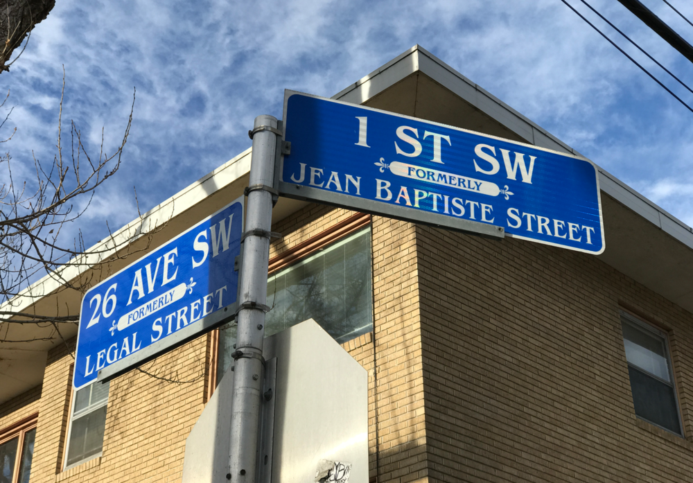 I love that the former street names have been added to the street signs as reminder of the history of the community.