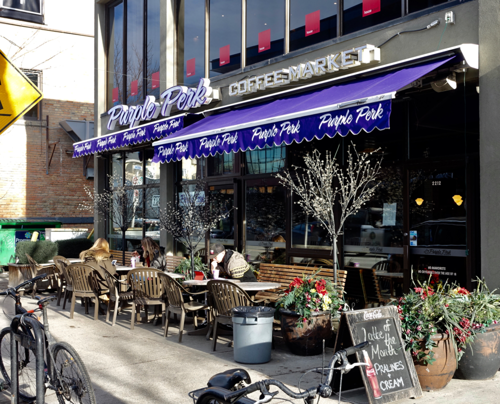 Purple Perk is one of Calgary's signature independent cafes.