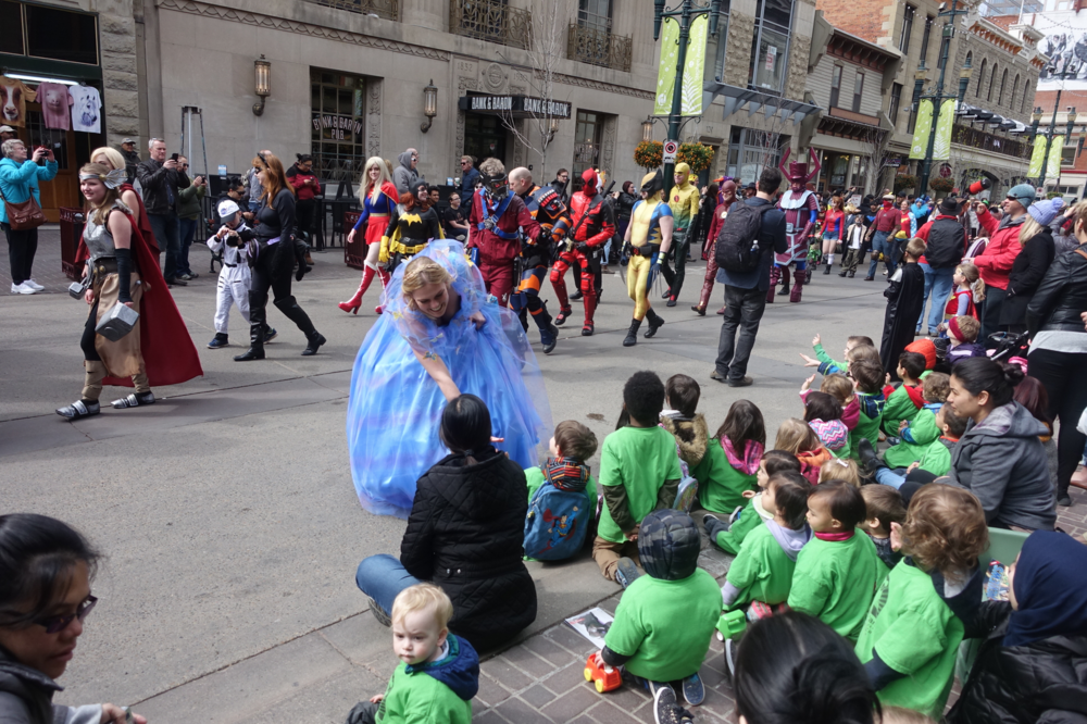 Everyone loves a parade, especially one's with princesses and super heroes!