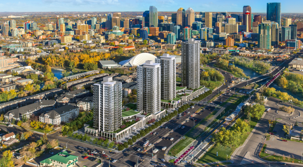 Anthem Properties has plans to build four condo towers next to Stampede Park and the Erlton LRT station in the future.  Stampede Park would be their playground.