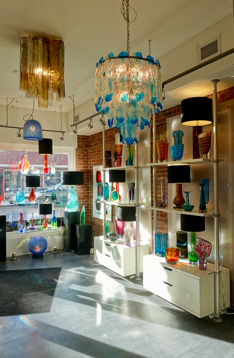 Cira Vintage Art Glass with its mid century modern glass pieces is a one of kind gallery in Canada. It is an engaging kaleidoscope of colour and light.  Great for souvenir or gift shopping.