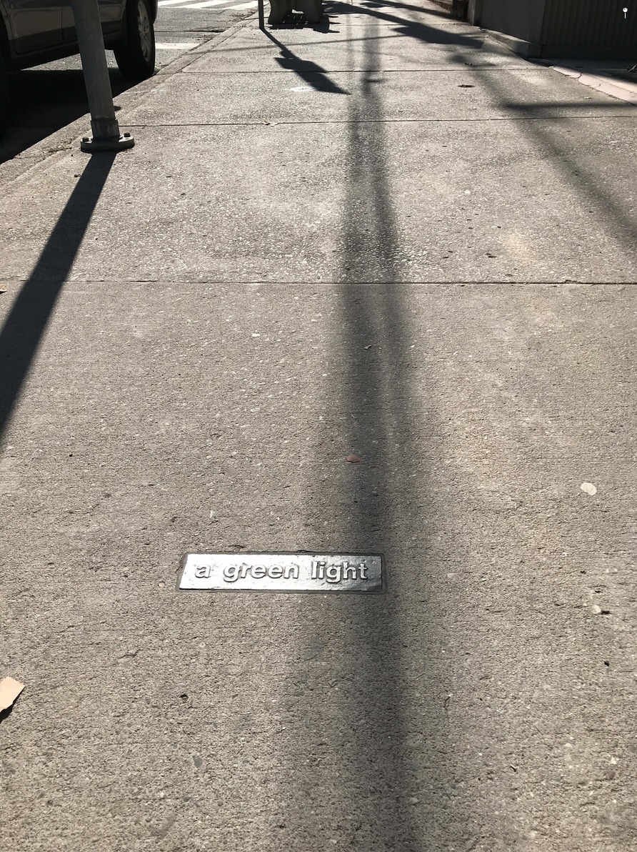 All along the sidewalks of Lock Street are fun word plaques that make you stop and think.   Wow -  fun, clever and inexpensive - public art!