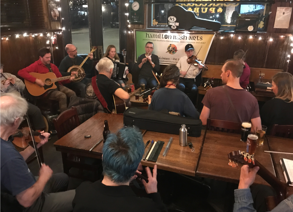 If you are in Hamilton on a Tuesday night, be sure to check out the Irish Jam at the Corktown Pub. It was as good as anything I experienced in Dublin. At one point I counted 23 musician jamming at the same time.