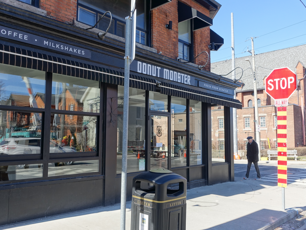 And yes, Hamilton (home to Tim Hortons) has a trendy boutique donut maker. Monster is located at the south end of Locke Street.