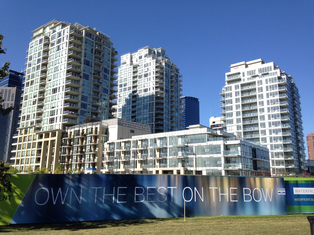 Anthem Properties' Waterfront project one of several new luxury condo projects built over the past 10+ years in downtown Calgary along the south shore of the Bow River.