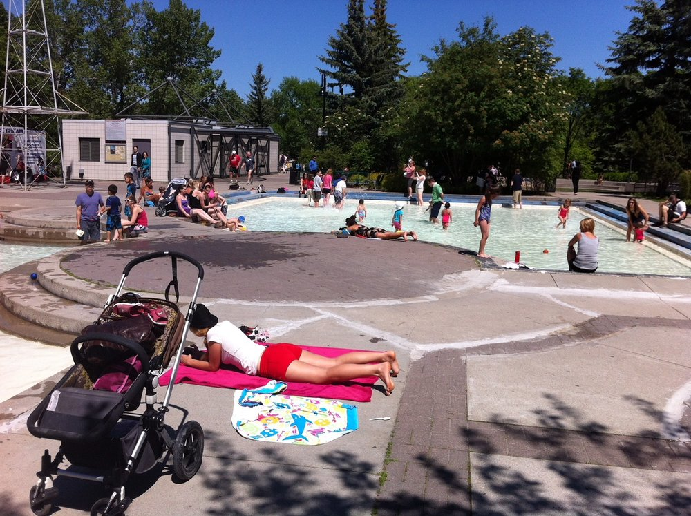 The Eau Claire wading pool is also popular for young families.