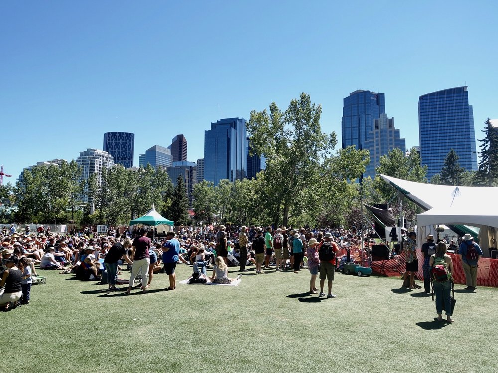 The Calgary International Folk Festival is just one of the many festivals that take place on Prince's Island.