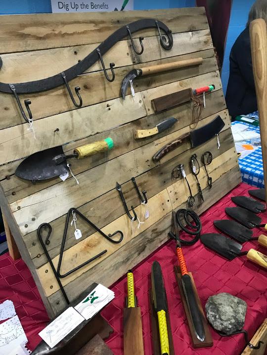Hand-made garden tools.