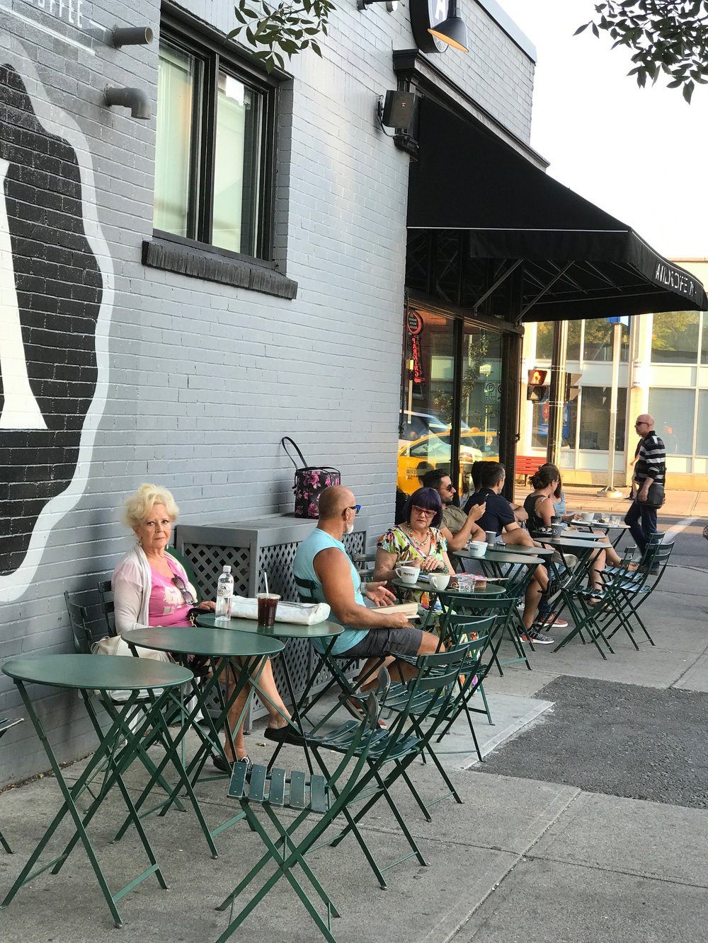 Sidewalk cafes are scattered throughout the City Centre.