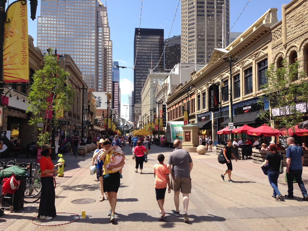 Stephen Avenue is one of the best pedestrian malls in Canada.