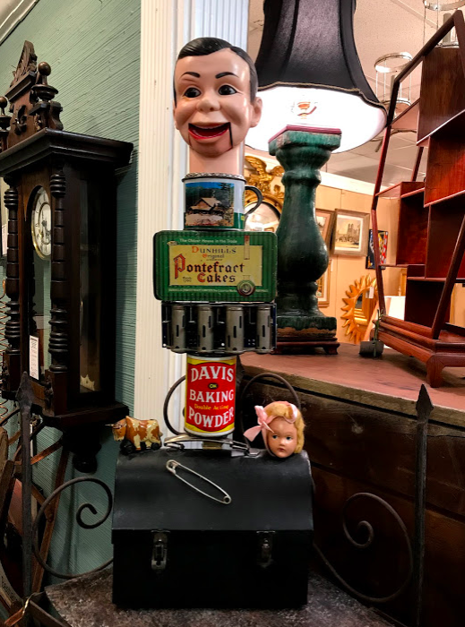 You can find the strangest things at antique stores.  This totem was found at Antiques & Beyond a huge antique market on Cheshire Bridge.