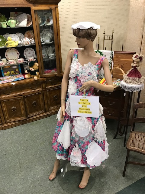 "Found ""Dolly"" in the American League thrift store in Chamblee's Antique Row."