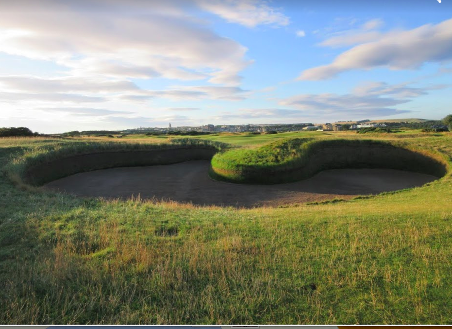 Hell Bunker, on the treeless, Old Course, St. Andrews