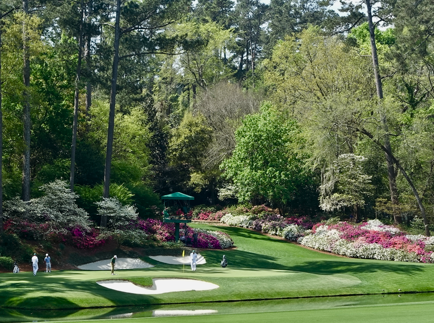 Augusta's 12th Hole in the middle of Amen's Corner is both beautiful and bewildering.