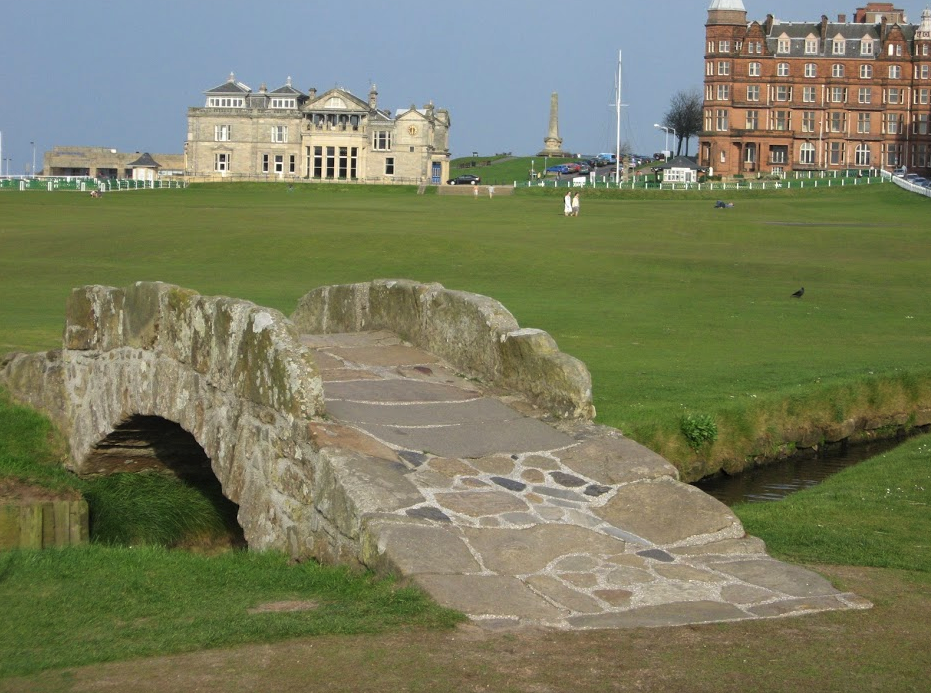 It is hard to resist taking a photo standing on Swilican Bridge when you play the Old Course.