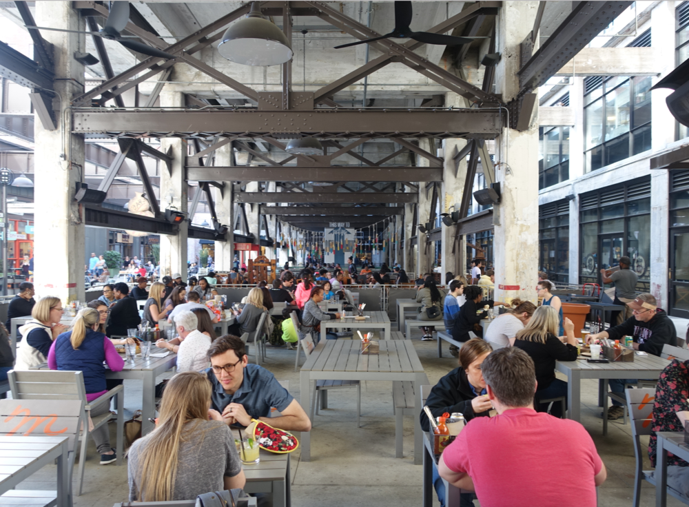 Ponce City Markets massive outdoor patio.