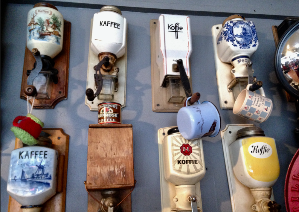 The Roasterie's walls are full of fun coffee artifacts.  You can often smell the Roasterie before you see it.