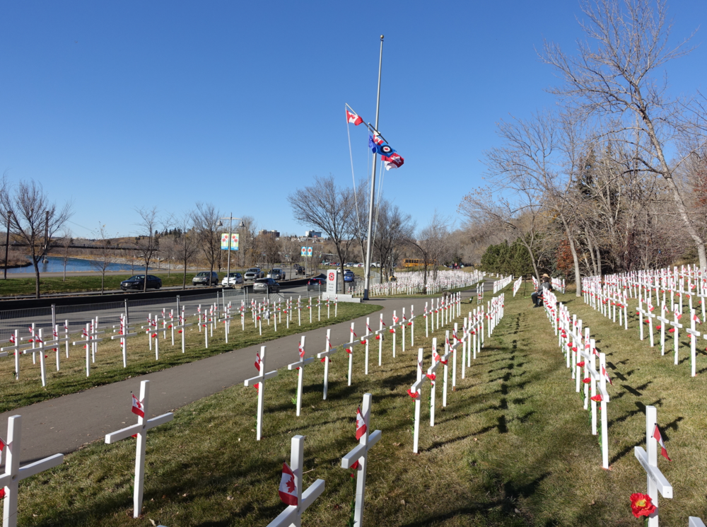 Each year, Kensington hosts the Field of Crosses.