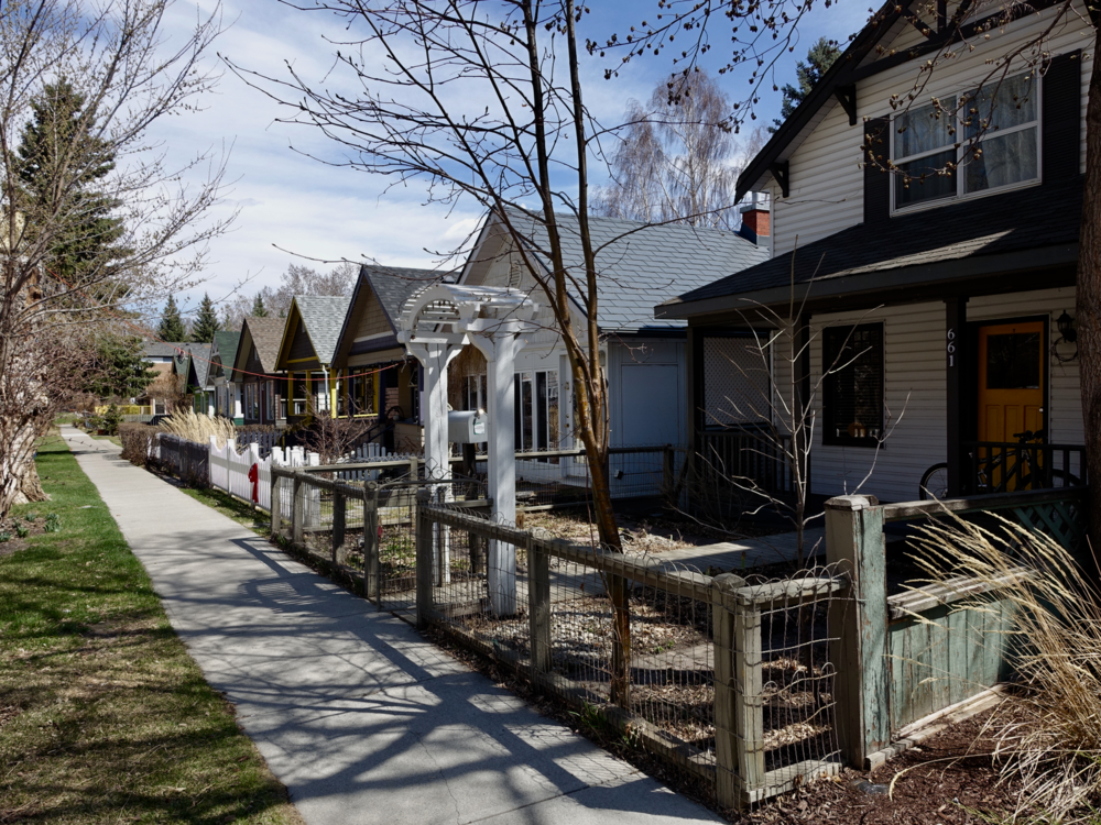 Sunnyside's residential streets still have the look of   an early 20th century prairie town.