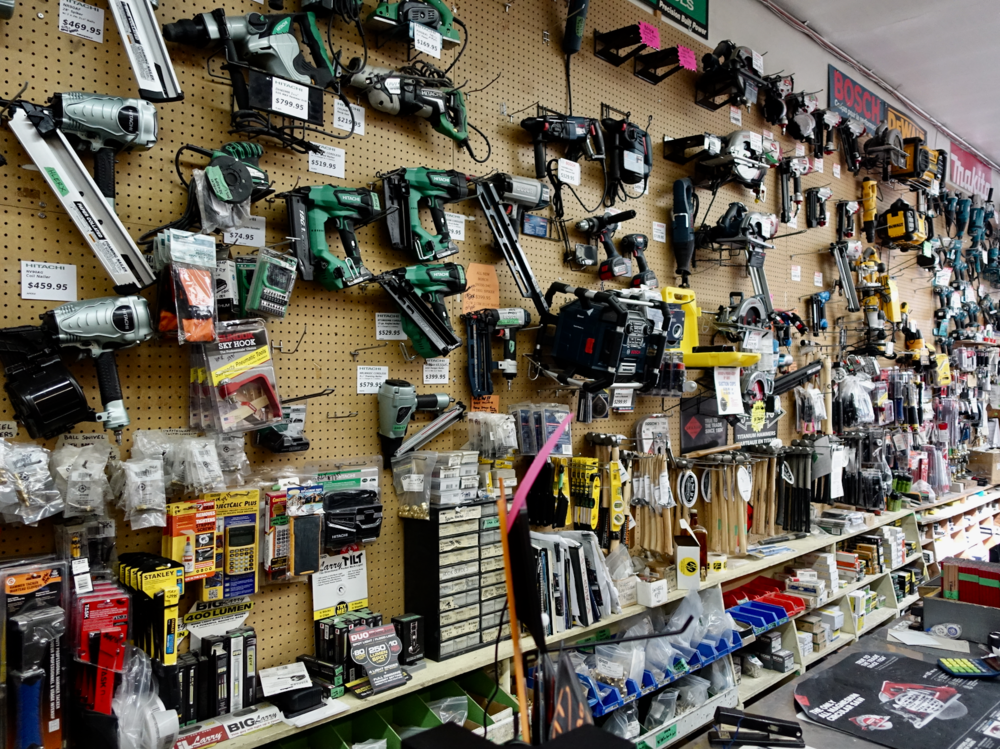 Hillhurst Hardware is packed with all the toys a serious handyman might need.