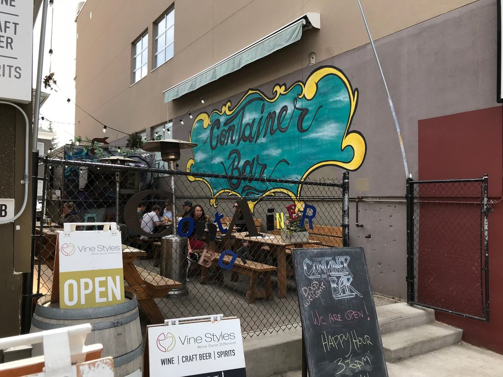 The Container Bar (summer only) is literally a container placed in a side alley along Kensington Road that serves as a bar with a few tables.