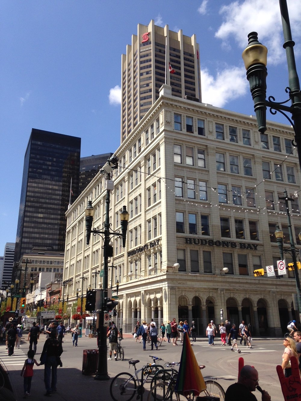 The historic Hudson's Bay department store in downtown Calgary.