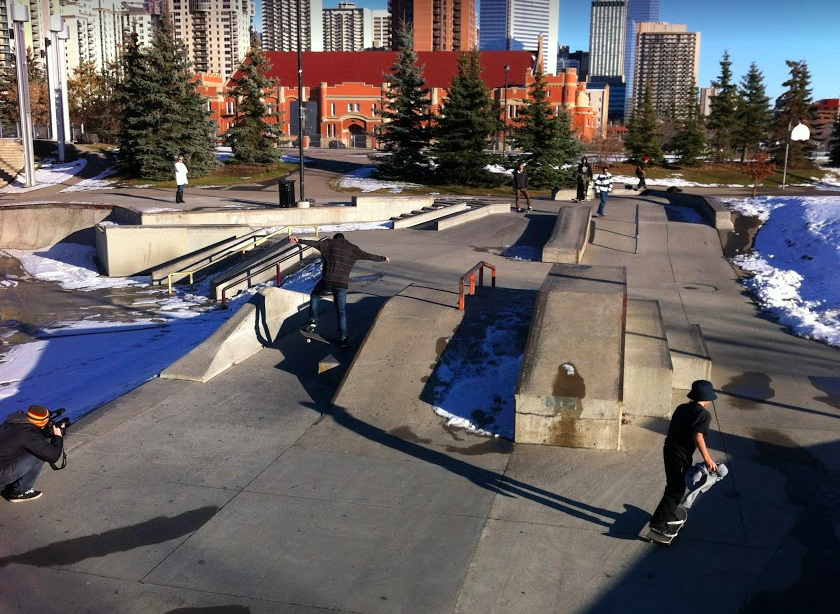 Shaw Millennium Park is one of the best skate parks in North America. It also has a festival area, beach volleyball and basketball courts.