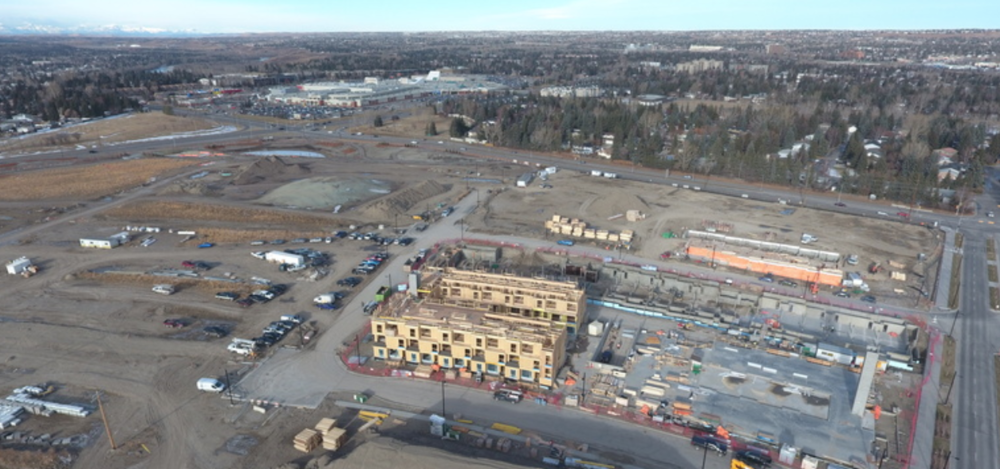 University District site construction
