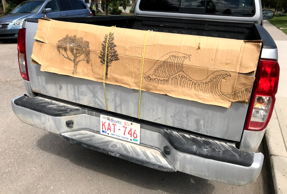 I love fun surprises, like this tailgate art found while on an adventure (walkabout) with Clark (one of the neighbour kids).      Link:    Mexico City: Full of Surprises