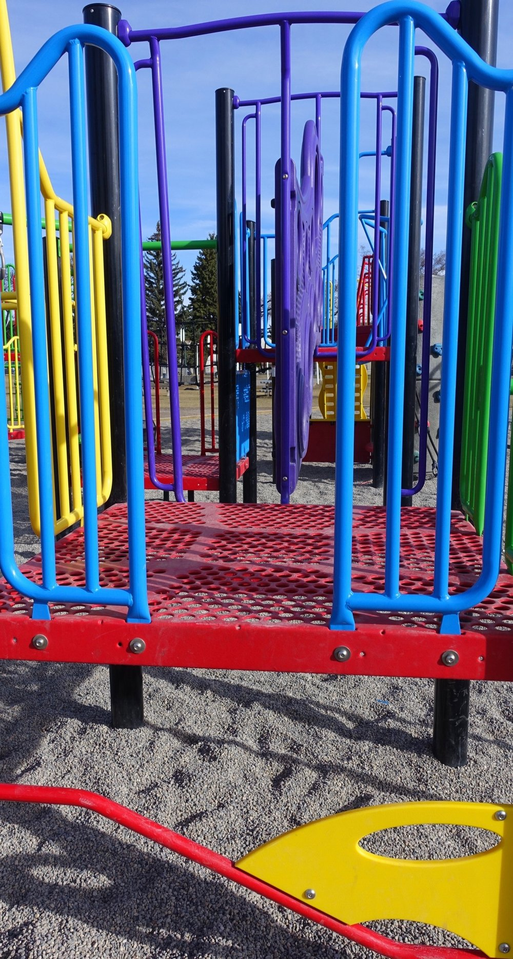 Many of the new playgrounds have artistic qualities to them if viewed from the right angle.
