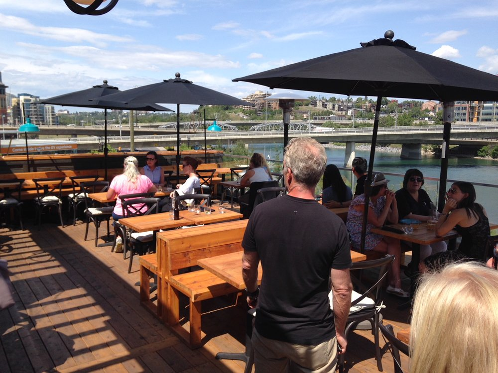Patio dining on the river is always an option.