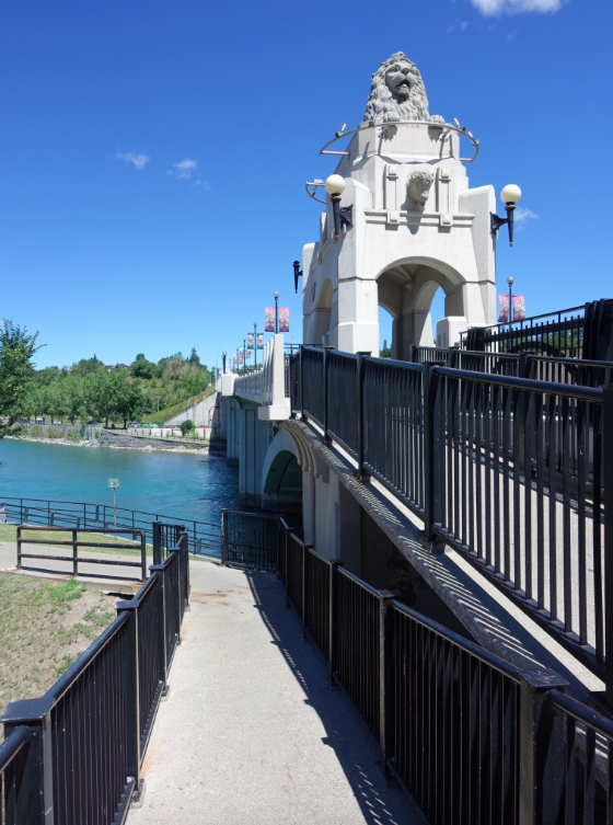 The Centre Street Bridge provides a sense of history, as well as a great view of the Bow River and city skyline.