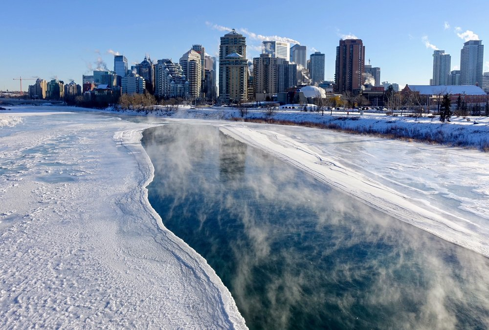 The ever changing Bow River is a very cool place summer or winter.