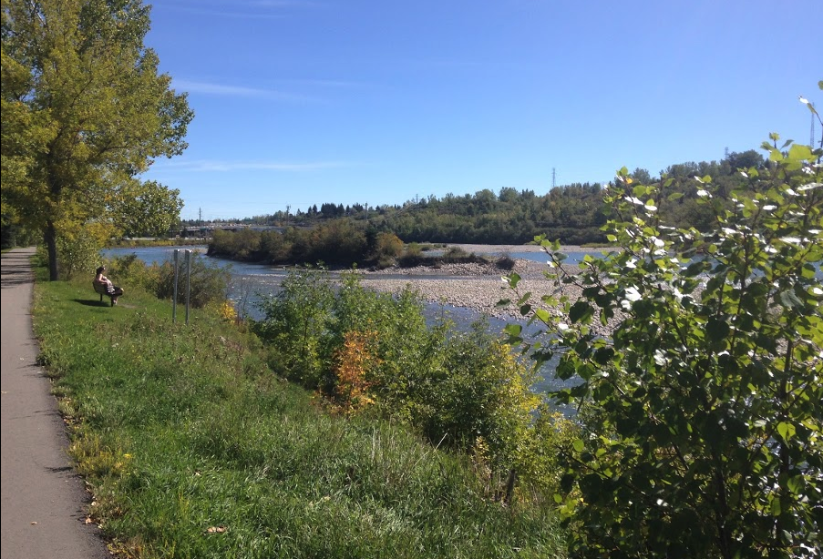 We even have our own stretch of the Bow River, with our own islands.