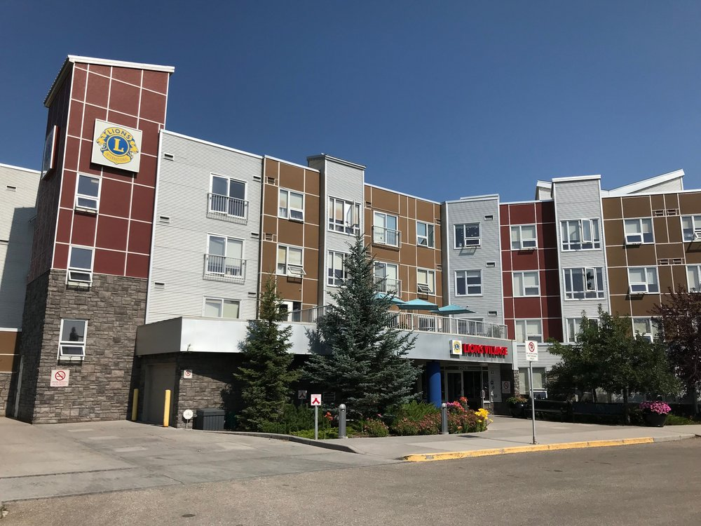 The Lions Village our newest seniors complex, by NORR combines an industrial and contemporary look, which is fitting as it is located next to a major ENMAX transformer.