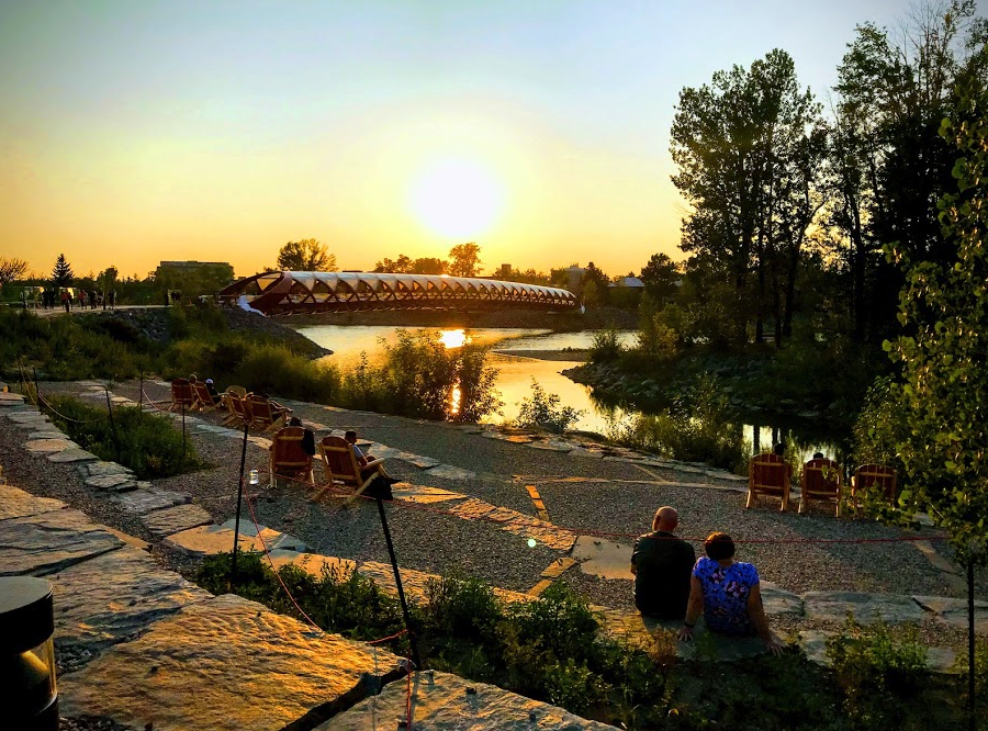 The new West Eau Claire Park is creating a special place to sit and linger along the Bow River Promenade.